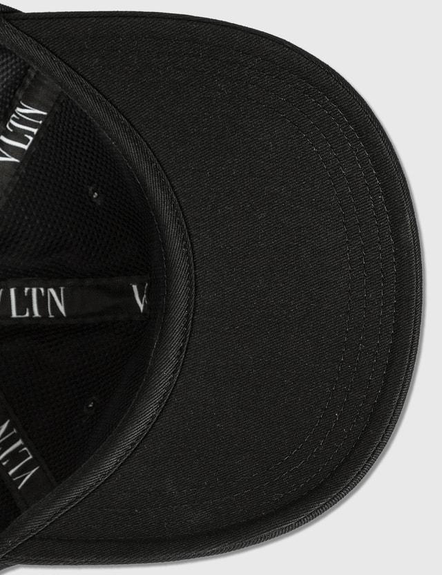 Valentino Valentino Garavani VLTN Cotton Baseball Cap Nero/nero-bianco Men