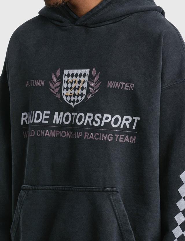 Rhude Motor Crest Hoodie Black Men