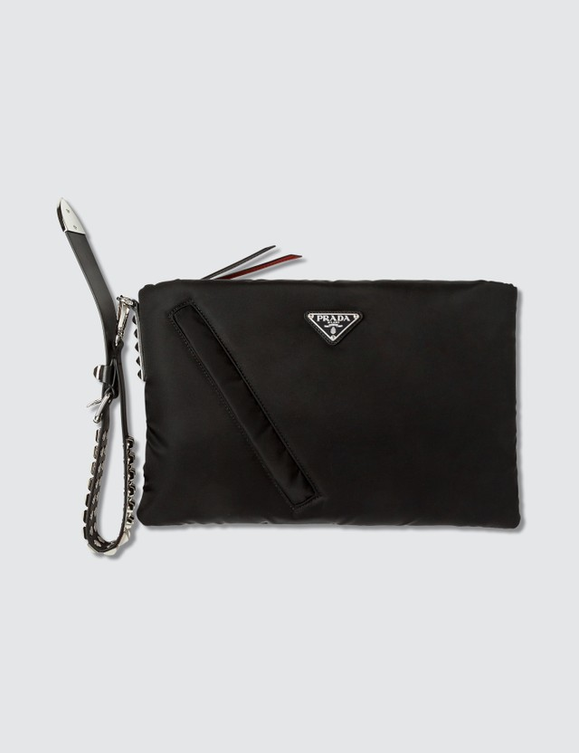 Prada Prada Black Nylon Clutch