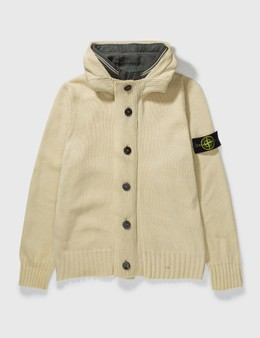 Stone Island Stone Island Double Layer Hooded Cardigan