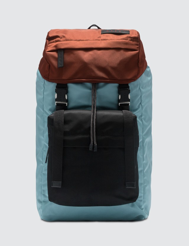 Marni Color-block Nylon Backpack