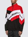 MSGM Half Zip Colorblock Sweatshirt