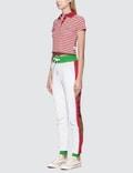GCDS Stripe Crop Polo
