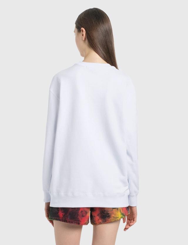 MSGM Cat Print Sweatshirt Optical White Women