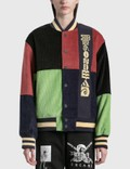 Brain Dead Jacquared Patchwork Letterman Jacket Picture