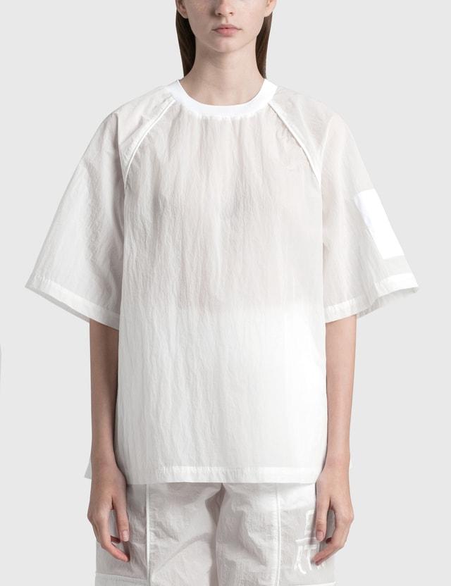 Emporio Armani GREENLON® Nylon T-shirt Bianco Ottico Women