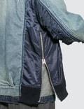 Sacai MA-1 Denim Patchwork Jacket