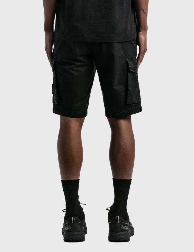 Stone Island Flap Pockets Cargo Shorts Black Men