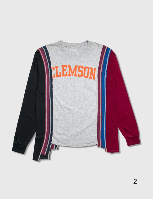 Needles 7 Cuts College Long Sleeve T-Shirt =e23 Men