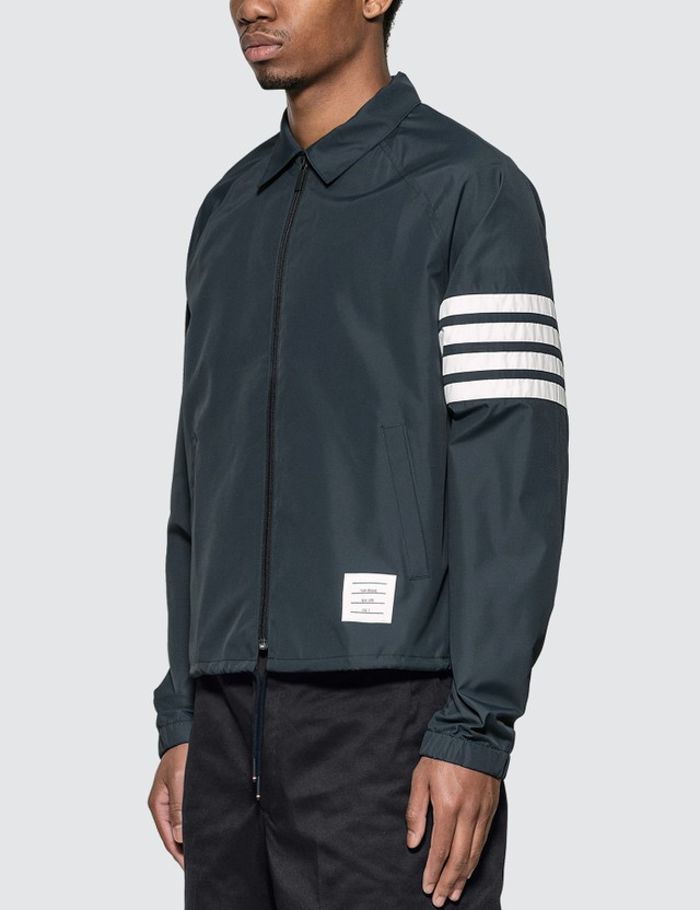 Thom Browne Flyweight Tech 4 Bar Stripe Windbreaker