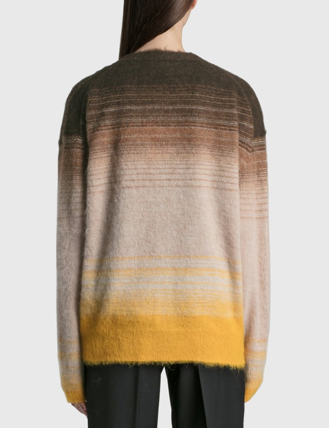 Acne Studios Kanra Brushed Gradient Stripe Cardigan