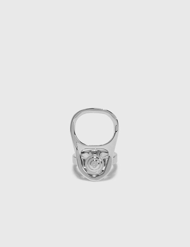 MM6 Maison Margiela Pull Tab Ring Palladium Women