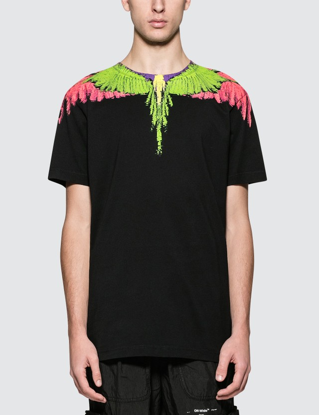 Marcelo Burlon Fluo Glitch Wings S/S T-Shirt