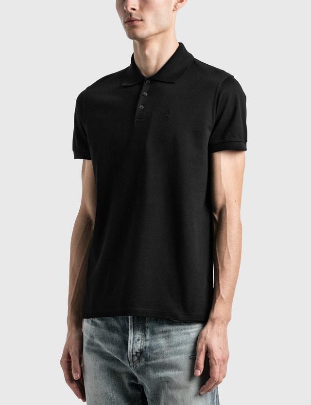 Saint Laurent Monogram Polo Shirt Noir Men