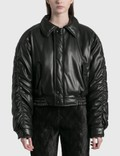Nanushka Aida Vegan Leather Bomber Jacket Picture
