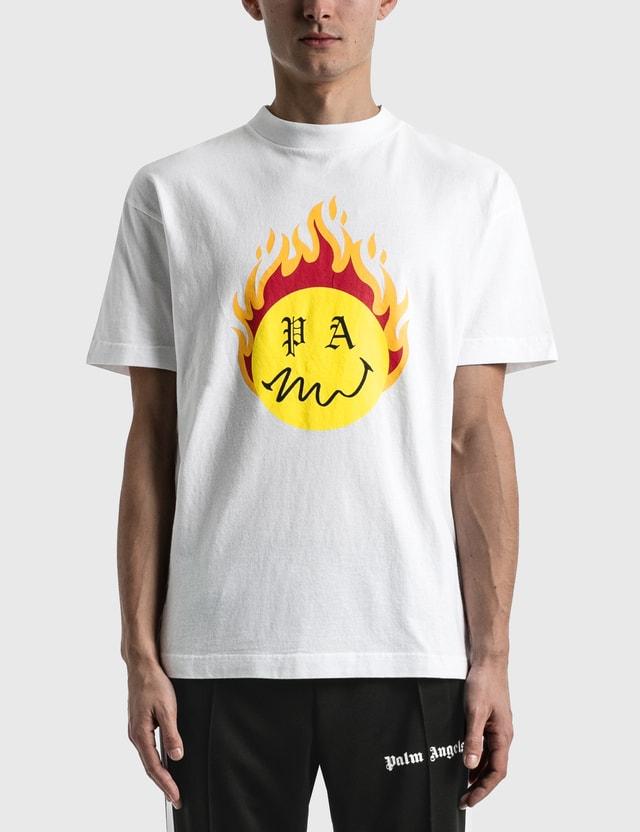 Palm Angels Burning Head T-shirt White Men