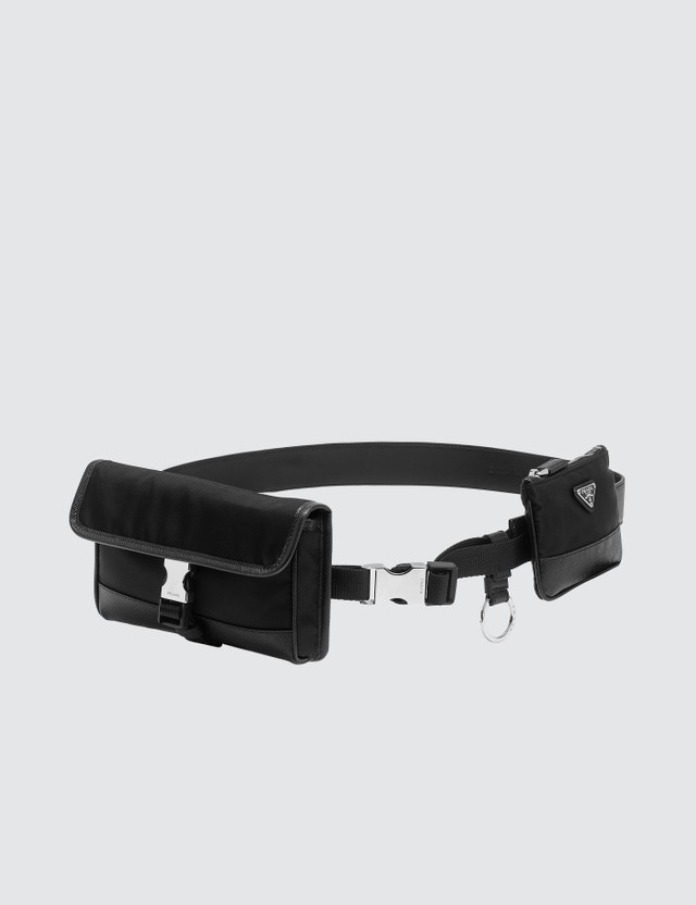 Prada Saffiano Belt with pouches