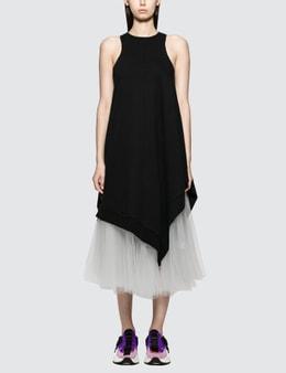 Unravel Project Terry V Hybr Asymm Tank Dress