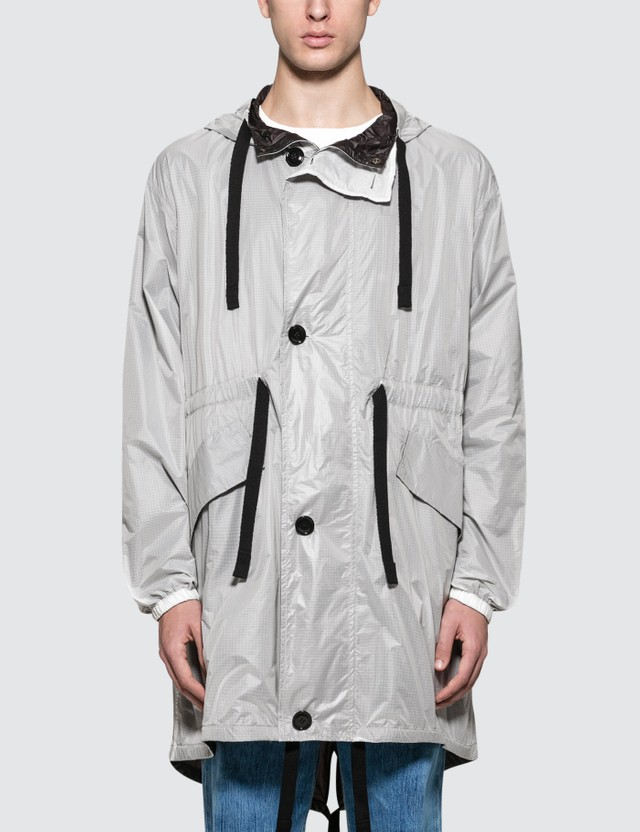 Acne Studios Ola Ny Rip Jacket White/black Men