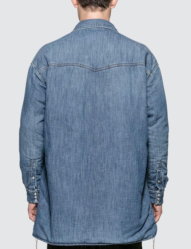 Maison Margiela Vintage Denim Oversized Padded Overshirt