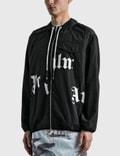 Palm Angels Broken Logo Windbreaker Jacket Black Men