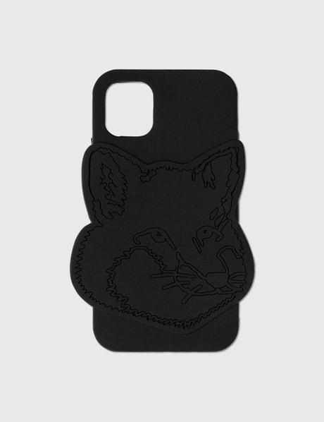 메종 키츠네 Maison Kitsune Fox Head Silicone iPhone 11 Case