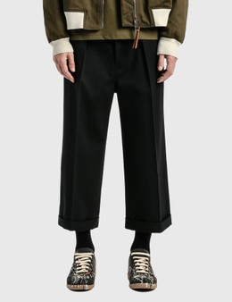 Loewe Cropped Flare Trousers
