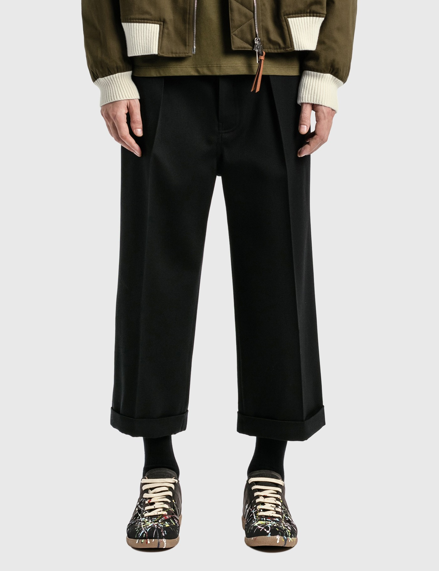 Loewe Flared pants CROPPED FLARE TROUSERS