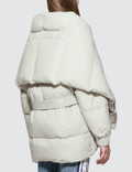 SJYP Shawl Detachable Puffer Down Jumper