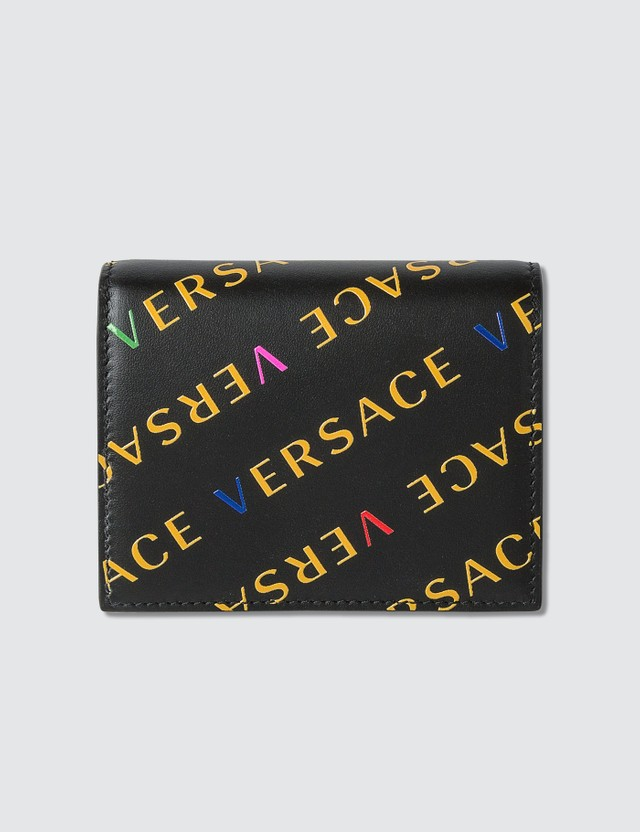 Versace All Over Logo Small Wallet