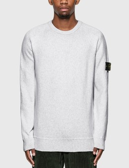 Stone Island Cotton Blend Compass Patch Logo Sweater