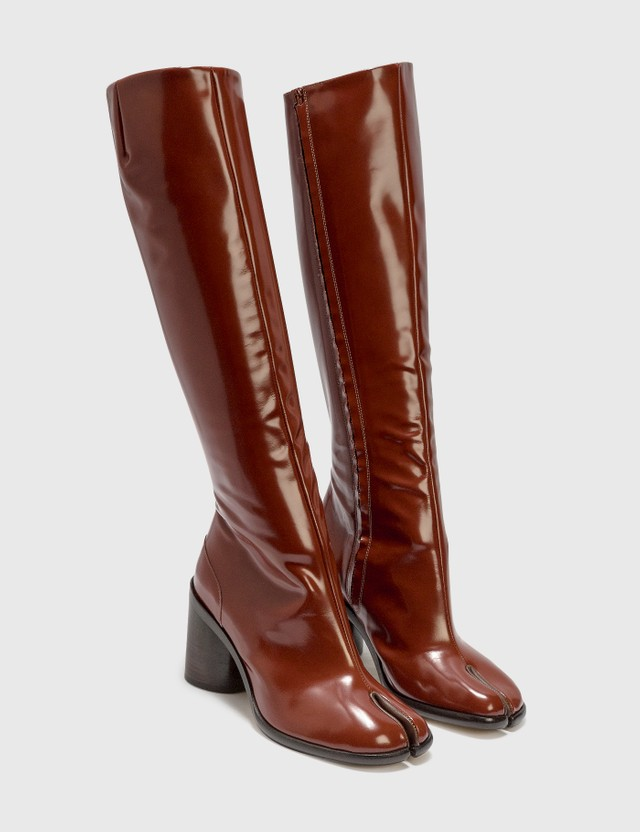 Maison Margiela Tabi Pull-on knee-high Boots Sequoia Women