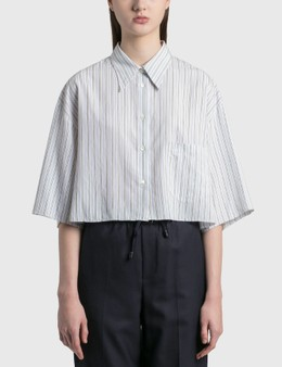 MM6 Maison Margiela Poplin Cotton Cropped Shirt