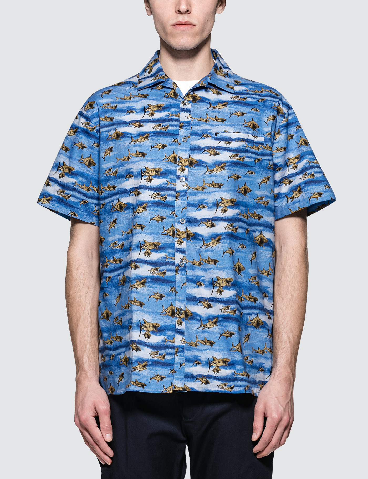 Bowling S/S Shirt with Open Collar