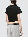 Alexander Wang.T High Twist Jersey Ruched V-neck Tee With Ties