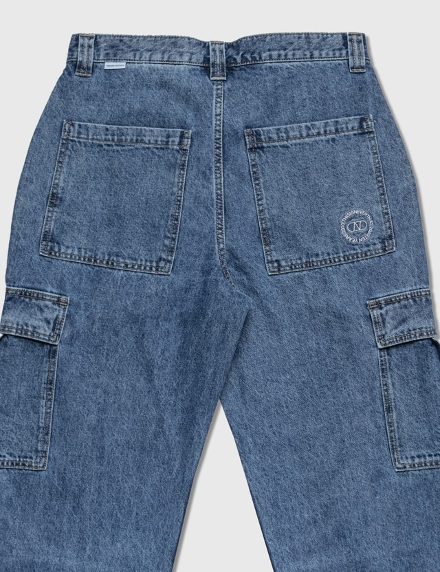 Thisisneverthat Denim Cargo Pants Light Blue Men