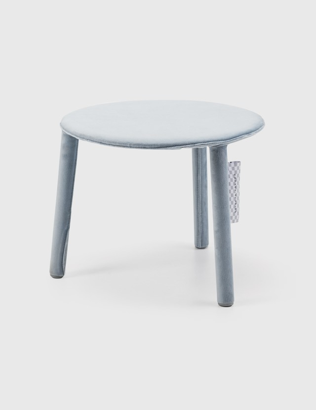 Crosby Studios Small Gray Velvet Stool