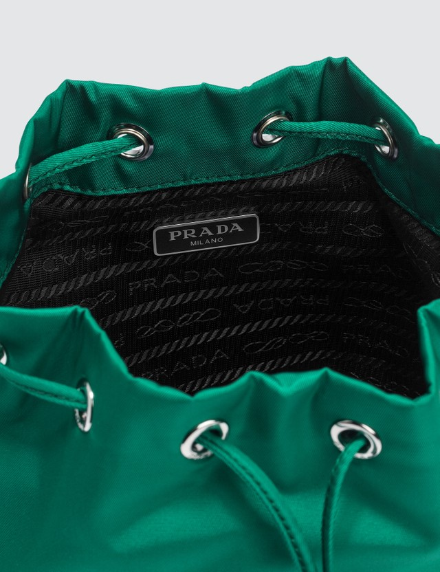 Prada Vela Nylon Drawstring Wash Bag