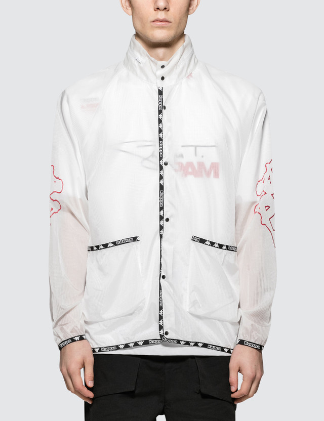 Perks and Mini P.A.M. x A.Four Labs x Kappa Hooded Coach Jacket Clear Men