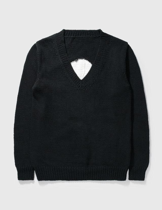 Mastermind Japan Mastermind Japan Skull V Neck Pullover Knitwear Black Archives