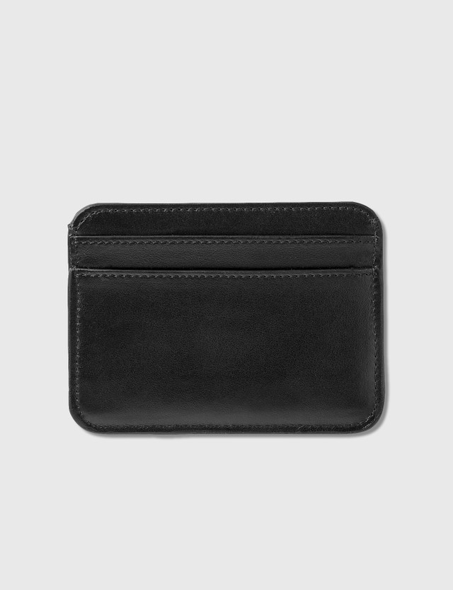 Chloé Chloé C Shiny Calfskin Card Holder Black Women