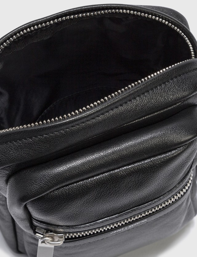 Saint Laurent Croco Embossed Leather Crossbody Bag Ner0 Men