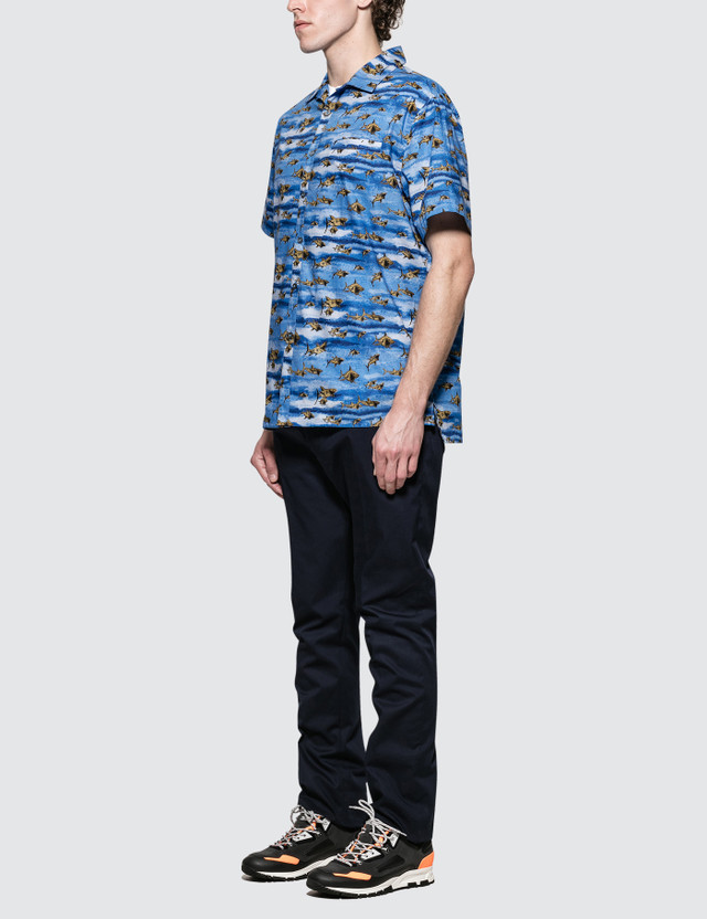 Lanvin Bowling S/S Shirt with Open Collar
