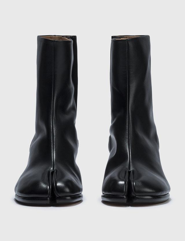 Maison Margiela Smooth Leather Tabi Ankle Boots Black Men