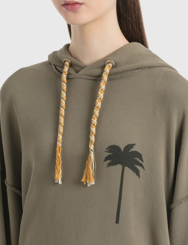 Palm Angels Palm Tree Hoodie Brown  Black Women