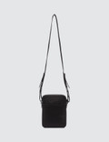 Lanvin Travel Pouch In Satin Nylon with Logos Black Men
