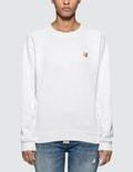 Maison Kitsune Fox Head Patch Sweatshirt Picutre