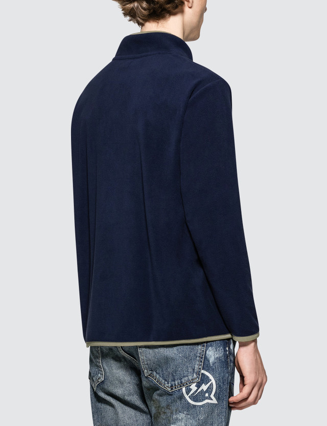 Denim By Vanquish & Fragment Icon Half Snap Fleece Pullover Jacket