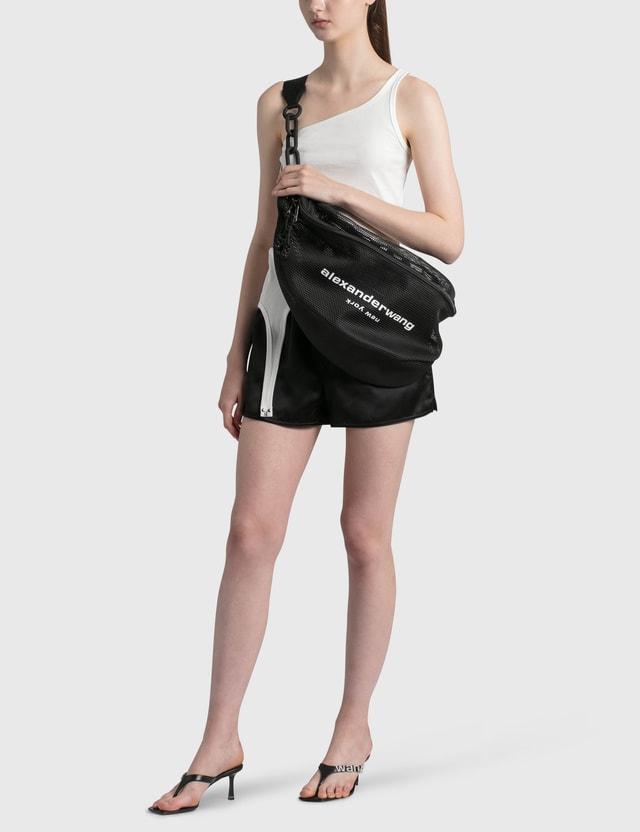 Alexander Wang.T Logo Elastic Silk Shorts Black Women