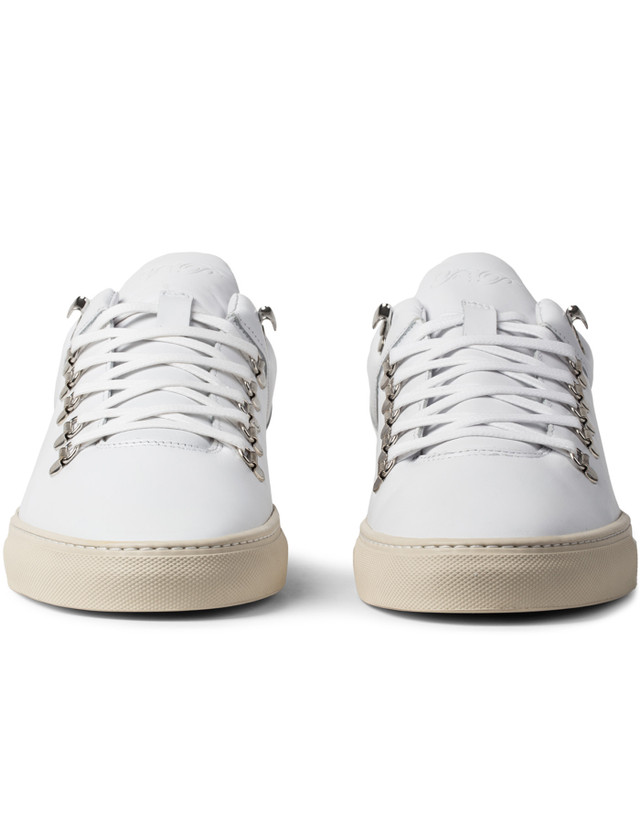 Filling Pieces Off White Leather Mountain Cut Shoes